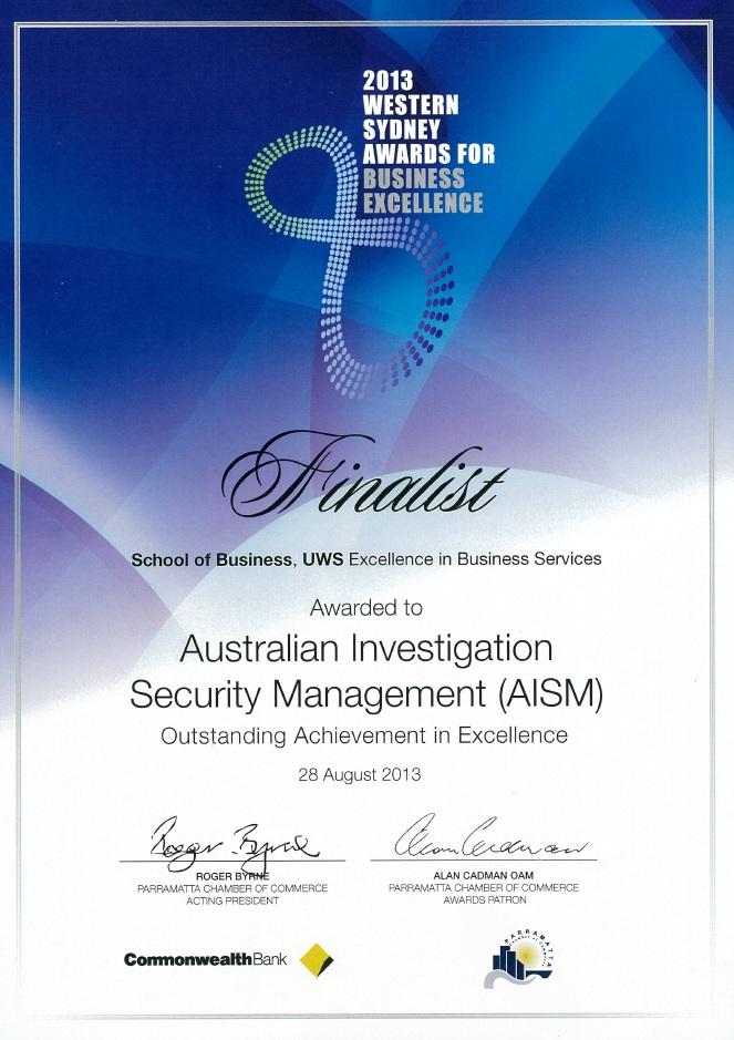 2013 WSABE - Finalist Certificate HD